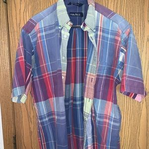 Vintage 90s Nautica Big Boat Button Up